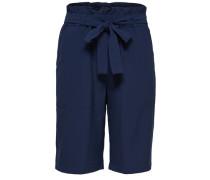 Hochtaillierte Shorts blau