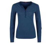Henleyshirt mit Turn-up-Ärmeln blau