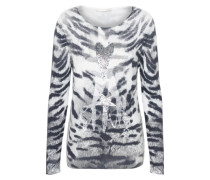 Pullover im Animal-Look grau / hellgrau