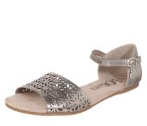 Sandale mit Lochmuster bronze