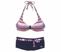 Bügel-Bikini navy / gelb / pink / rosa / weiß