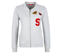 Collegejacke mit Patches grau