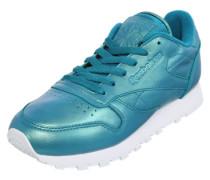 Sneaker mit schimmernder Optik blau