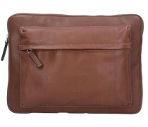 'Do it' Laptophülle Leder 33 cm cognac