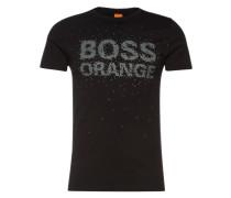 T-Shirt mit Front-Print 'Turbulence 1' schwarz
