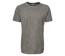 T-Shirt 'Manse' grau / schwarz