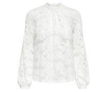 Spitzen Langarmhemd weiß