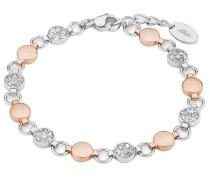Armband mit Swarovski Kristallen weiß