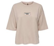 Kurzärmeliges Sweatshirt beige
