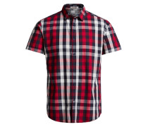 Klassisches Karo-Kurzarmhemd rot