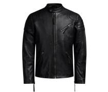 Rider-Lederjacke schwarz