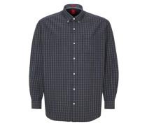 Baumwollhemd mit Karos blau
