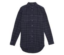 Langarmhemd 'niteloa' ecru / ultramarinblau