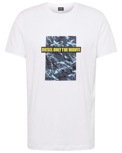 Shirt 'bmowt-Just-B ' blau / weiß