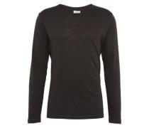 Shirt 'slub longsleeve' schwarz