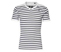 Tee 'Ramic Stripe' dunkelblau / weiß