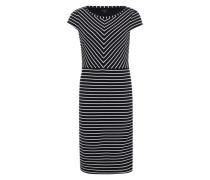 Kleid mit Streifendetails blau
