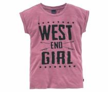 Shirt mit Frontdruck pink