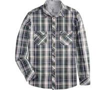 Trachtenhemd im Karodesign grün / mischfarben