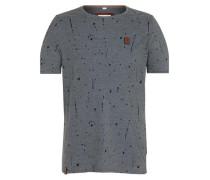 Male T-Shirt 'What's the 411' basaltgrau / schwarz