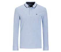 Klassisches Poloshirt blau / hellblau