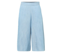 Culotte im Denim-Look blau