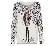Pullover mischfarben / schwarz / weiß