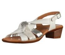 Sandalen silbergrau / weiß