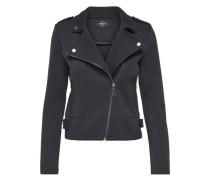 Sweat Biker-Jacke schwarz
