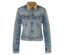 Jeansjacke 'Crop Trucker' blau