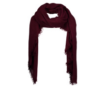 Schal mit Fransensaum rot