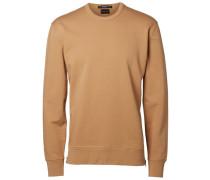 Crew-Neck-Sweatshirt braun