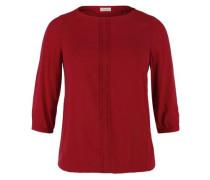 'O-Shape' Bluse mit Biesen rot