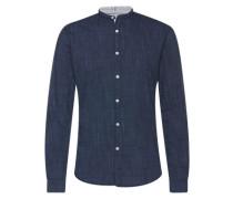 Hemd 'Summery Cotton Shirt' dunkelblau / blaumeliert