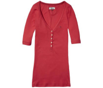 T-Shirt »Thdw Basic VN Henley S/S 13« rot
