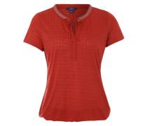 Strukturiertes Shirt rot