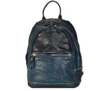 'Agave' Rucksack Leder 33 cm blau