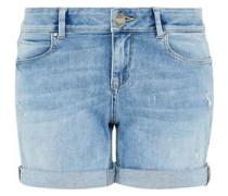 Jeans-Shorts mit dezenten Destroys blue denim