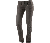 Pitch Skinny Fit Jeans Damen braun