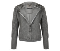 Sweatjacke im Used-Look grau