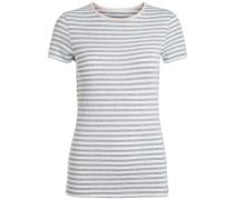 T-Shirt Gestreiftes grau
