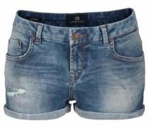 Knappe Used Shorts 'Judie' taubenblau