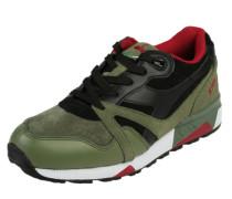 Sneaker 'n9000 Premium' oliv / karminrot / schwarz