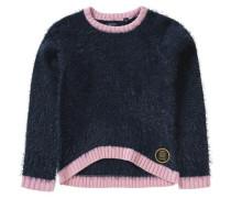 Pullover für Mädchen dunkelblau / hellpink