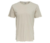 Detailreiches T-Shirt grau