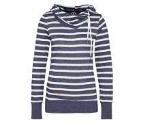 Sweater 'beat Stripes' navy / weiß