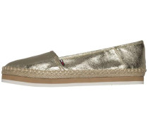 Loafer in Metallic-Optik gold
