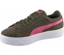 'Vikky Platform' Sneaker khaki / pink