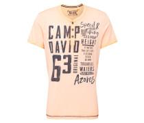 T-Shirt pastellorange / dunkelblau