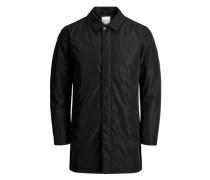 Minimalistischer Mantel schwarz